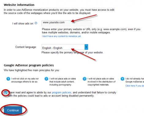 2 Tilføj oplysningerne til Adsense