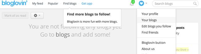 4 Vælg Claim blog på bloglovin