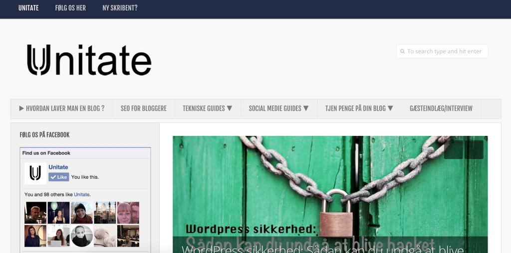 En designmulighed på Unitate.dk