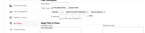 Filter din IP i Google Analytics