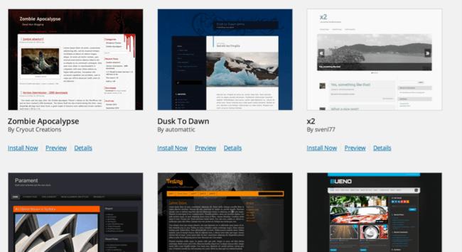 forskellige wordpress temaer på blog