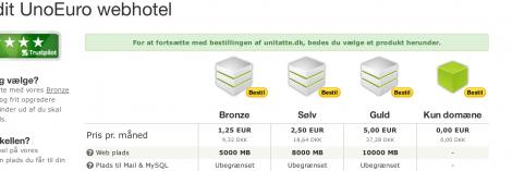 3 bestil kun DNS service ved Unoeuro