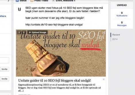 Del dine blogindlæg på Facebook