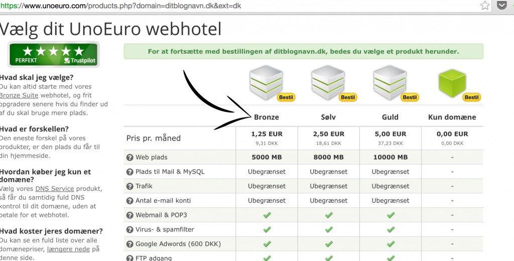 2 Vælg det korrekte webhotel til din WordPress blog