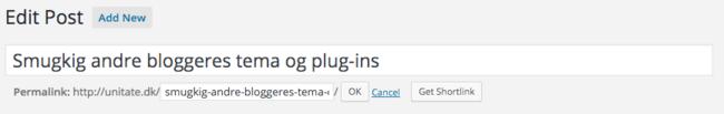 Korrekt permalinks gør at du kan ændre URL'en