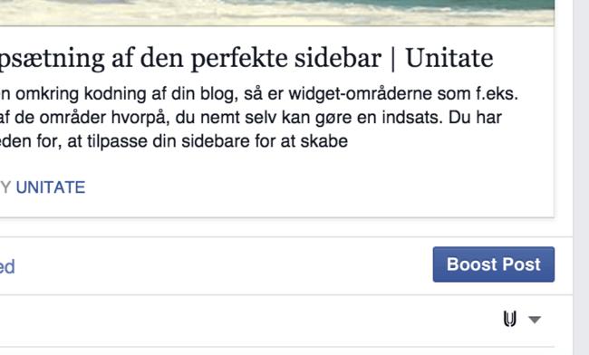 Boost-funktionen på Facebook
