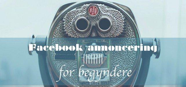 Facebook annoncering for begyndere