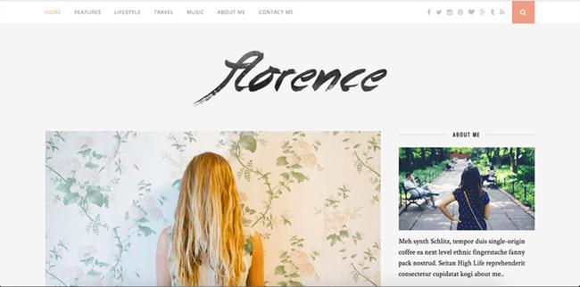 """Wordpress tema """"Florence"""""""