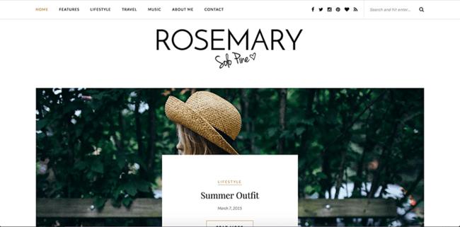 """Wordpress tema """"Rosemary"""""""