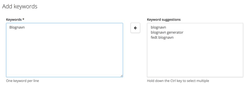 De korrekte søgeord giver Google ranking