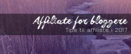 Tips til affiliate for bloggere i 2017