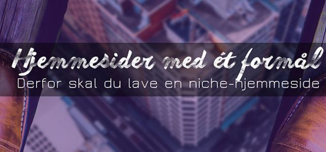 Lav en hjemmeside med ét formål: Niche-hjemmesider er fremtiden