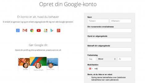 1 opret Google adsense profil til din blog