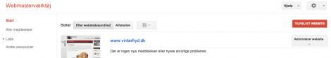 1 tilføj et website til Google Webmaster Tool