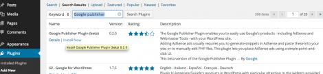 5 Installer Google publisher