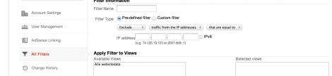 Filter din IP i Google Analytics