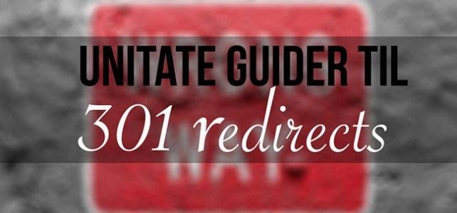 Sådan laver du 301 redirect på dine blogindlæg
