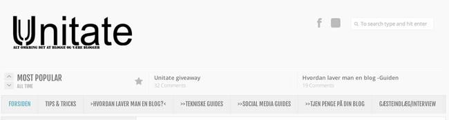 Sådan kan en menu se ud på din hjemmeside
