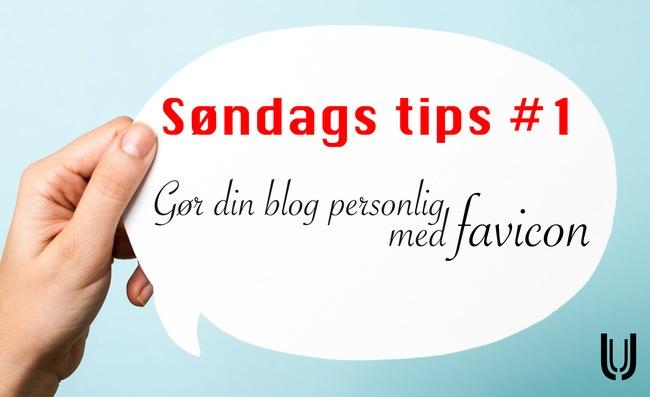 Søndags tips #1 Gør din blog personlig med favicon