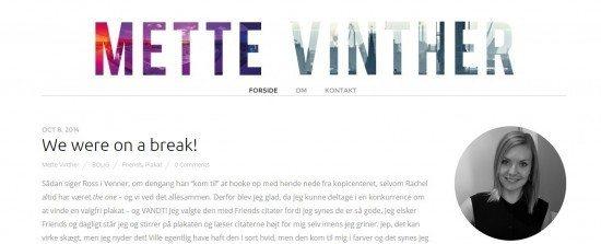 Case: Mettevinther.dk (Fra blogspot til wordpress)
