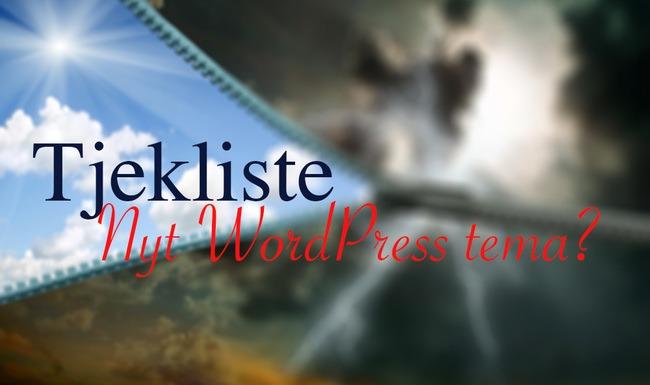 Tjekliste: Nyt WordPress design