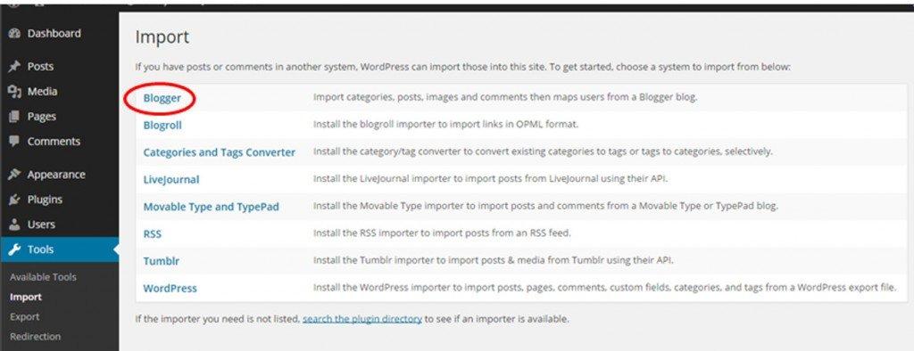 Import til WordPress