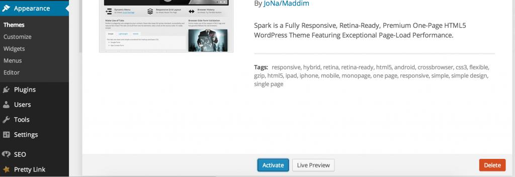 4 Sådan sletter du dine gamle WordPress temaer