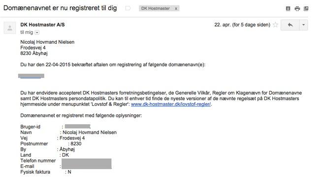 6 E-mail fra DK Hostamster