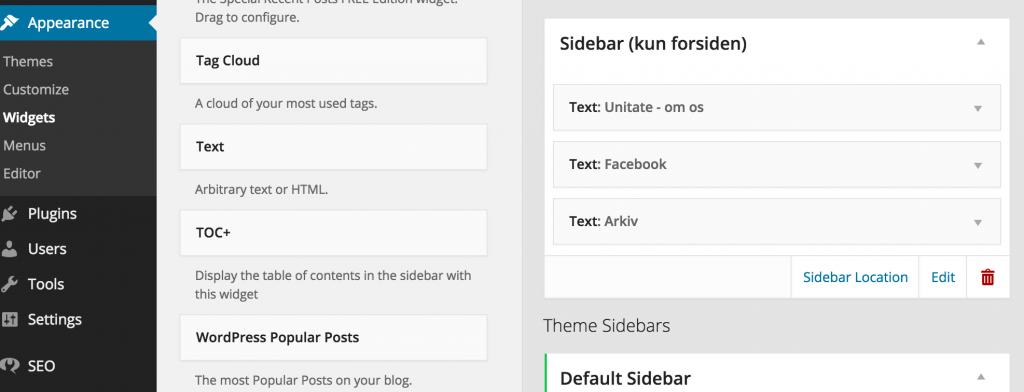 Sådan laver du en custom sidebar i WordPress