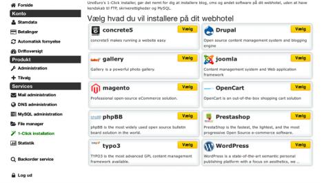 5 Opret en blob hos Unoeuro med WordPress