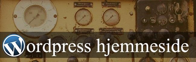 Wordpress hjemmeside-top