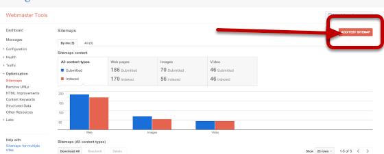 Tilmeld sitemap til Google Search Console (tidligere Google Webmaster Tool)