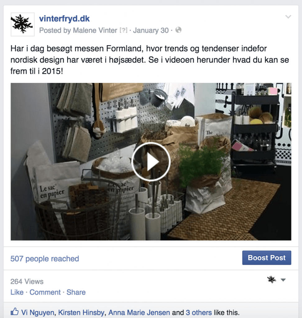 Video på din blogs Facebook-side