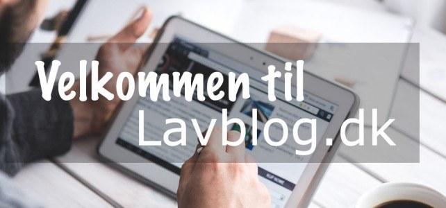 Vi lancerer projektet LAVBLOG.dk