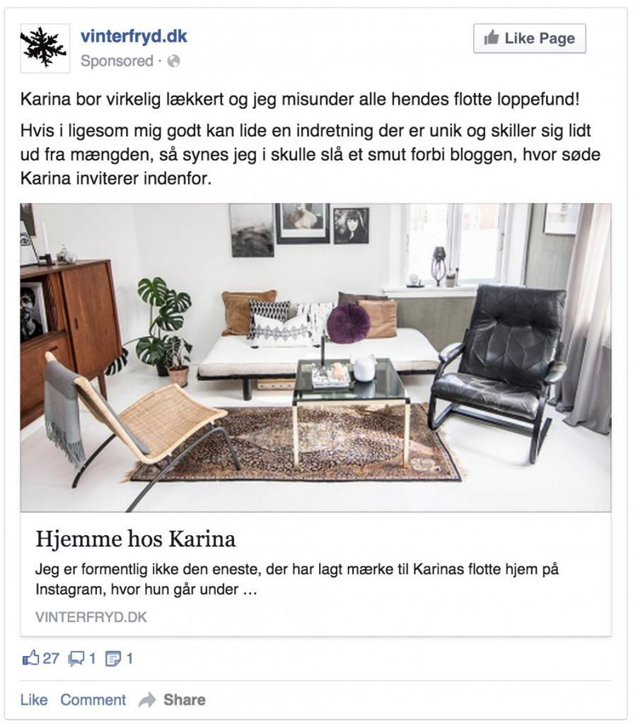 0 Eksempel på Facebook annonce