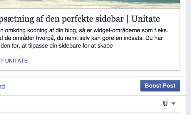 Boost-funktionen på Facebook