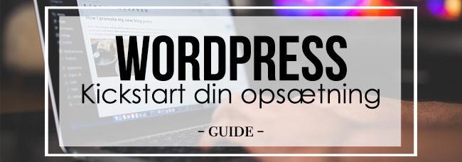 Kickstart wordpress opsætning-top