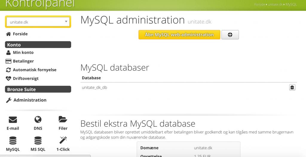 MySQL ved Unoeuro