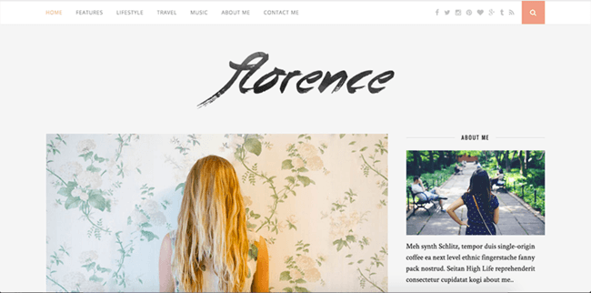 "Wordpress tema ""Florence"""