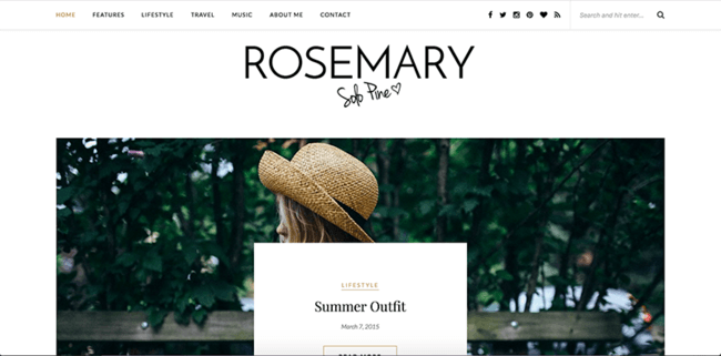 "Wordpress tema ""Rosemary"""